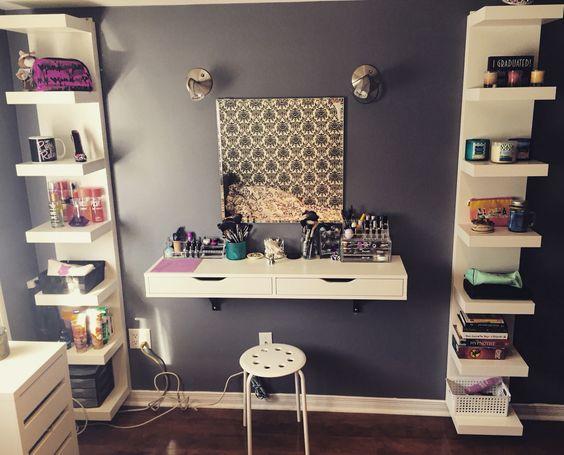 quarto decorado penteadeira 8