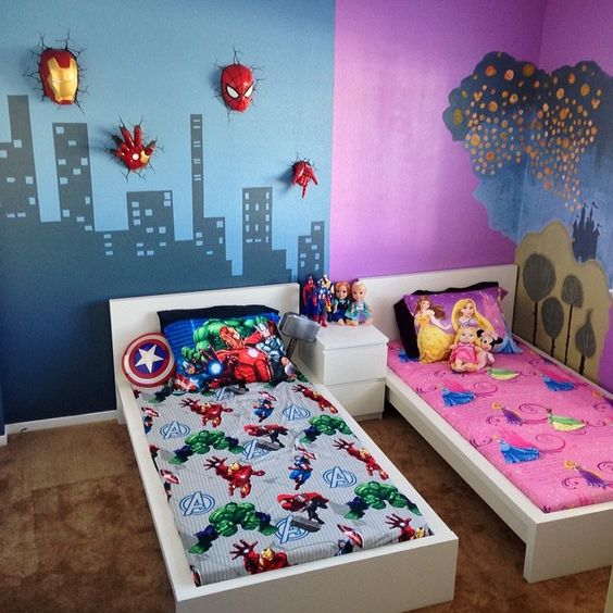 Kids Shared Room Decorating Ideas: 20+ Ideias De Quarto Infantil Colorido