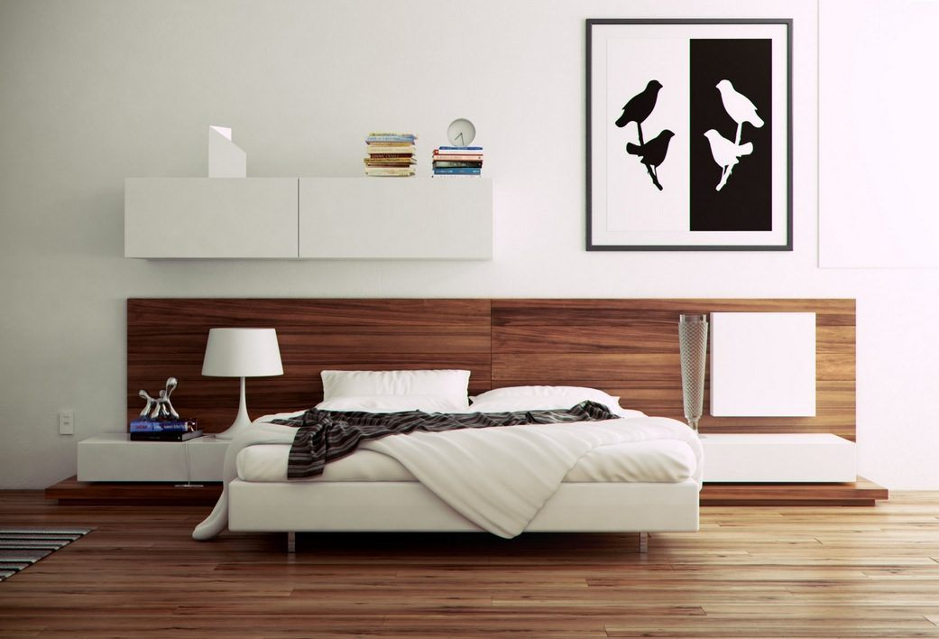 quarto minimalista com cor