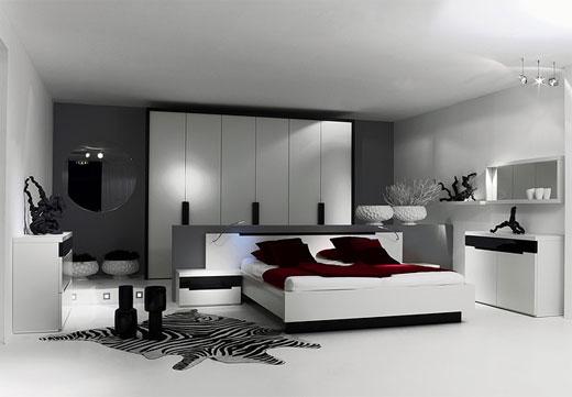 quarto moderno cinzento