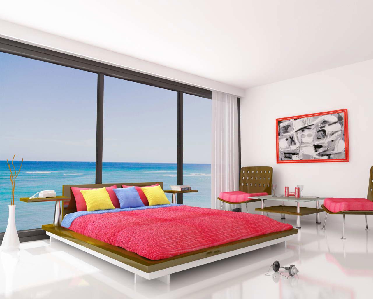quarto moderno praia