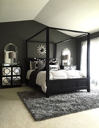 quarto preto mobilia