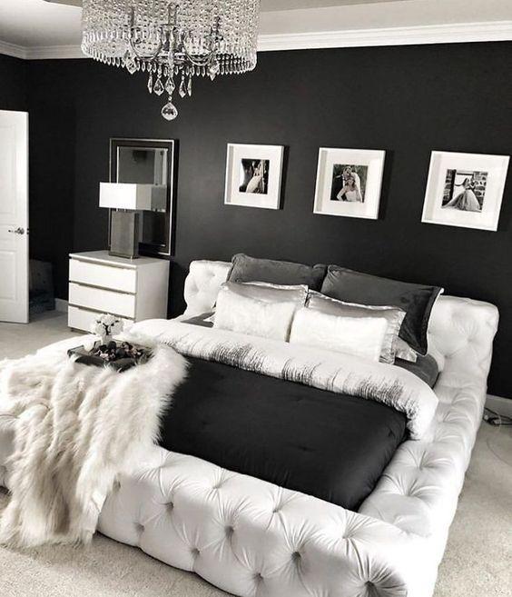 quarto preto prateado