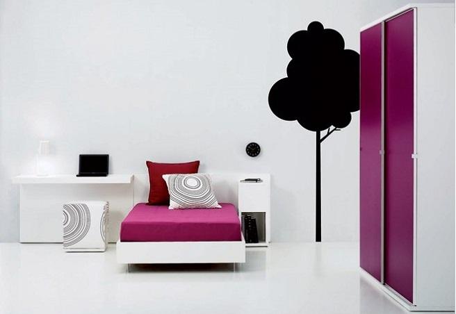 quarto rapariga minimalista