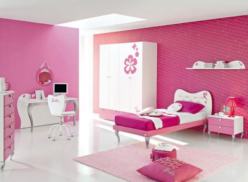 quarto rapariga rosa
