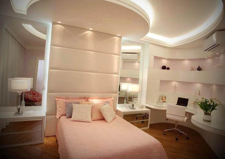 quartos decorados com gesso