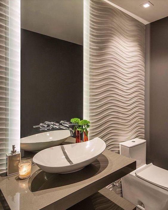 revestimento 3D banheiro
