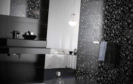 revestimentos para banheiros pretos