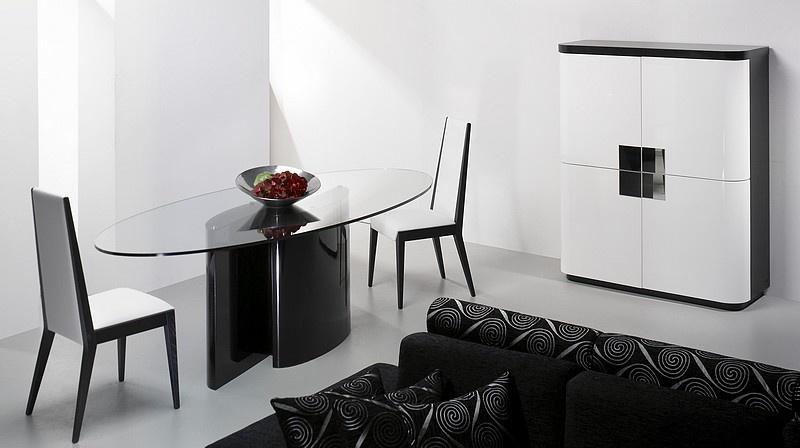 sala com mesa moderna