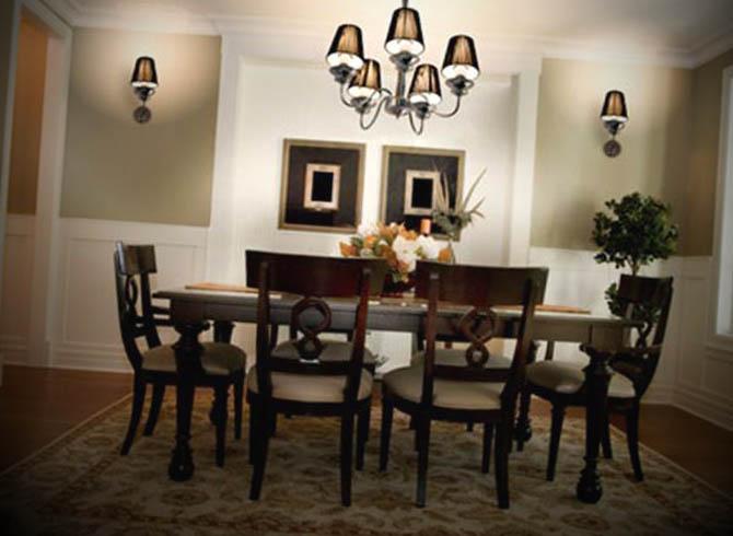 sala de jantar com lustre 1