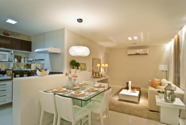 sala de jantar decorada apartamento pequeno