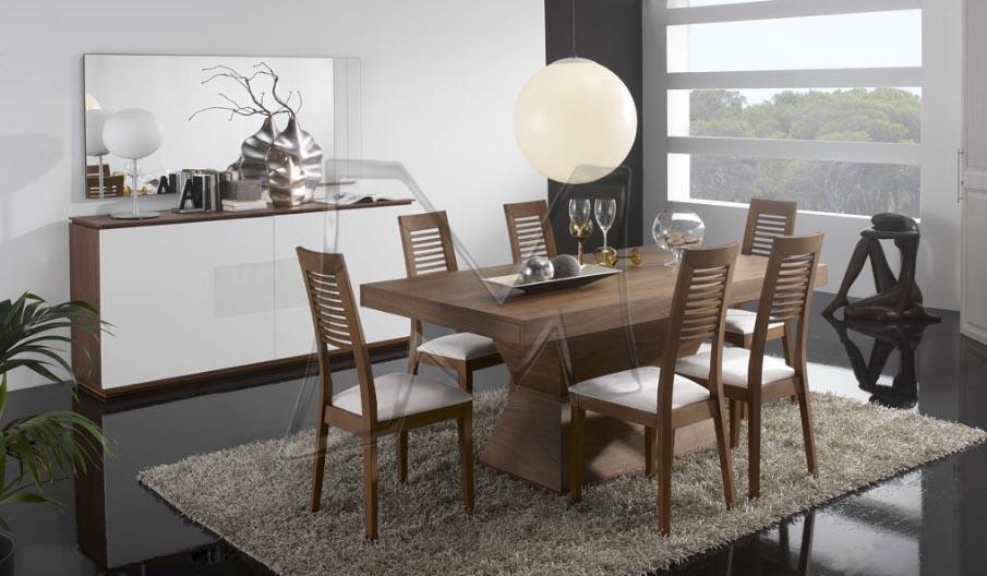 sala de jantar em madeira