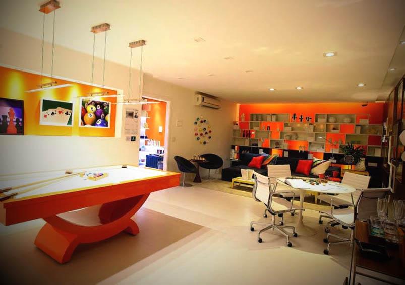 sala de jogos decorada