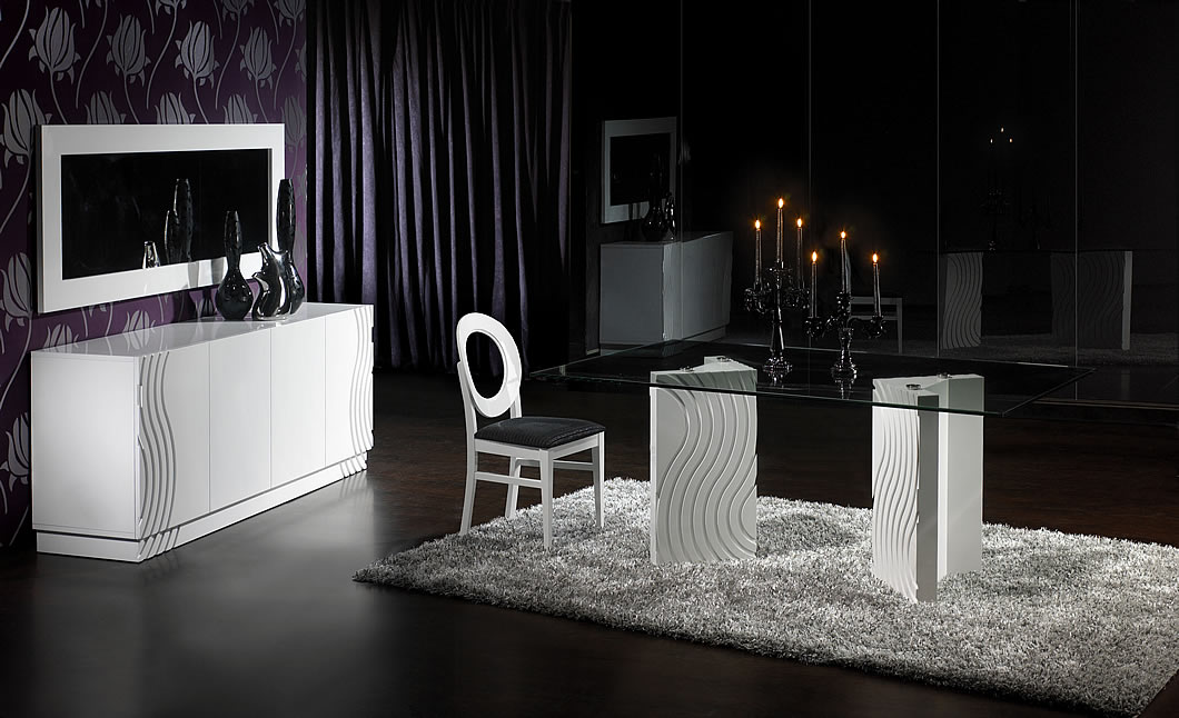 sala jantar preto branco tendencias