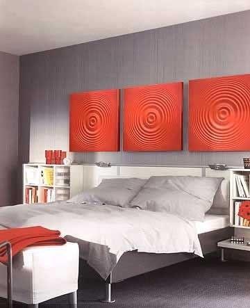 salas com papel parede 3d