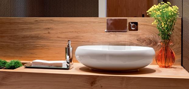 seis lavabos decorados