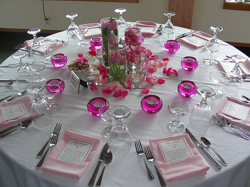 spring wedding table decorations