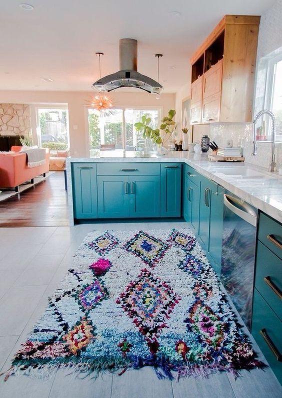 tapete cozinha decoracao colorido