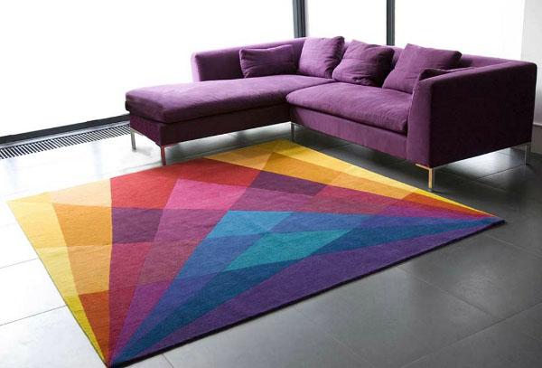 tapetes coloridos para sala fotos