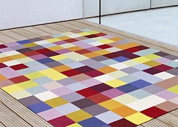 tapetes coloridos para sala