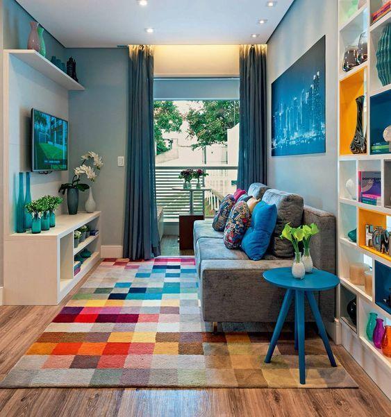 tapetes coloridos sala