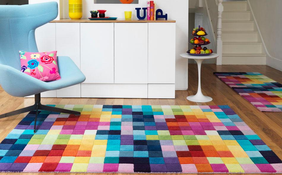 tapetes coloridos salas