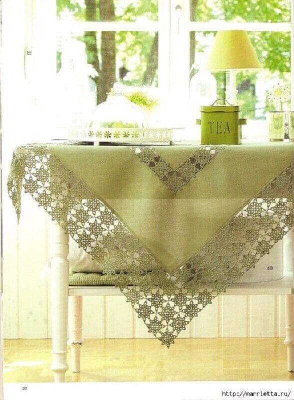 toalha de mesa borda croche 3