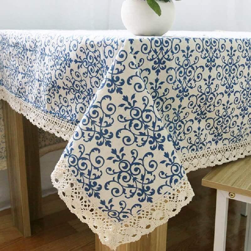 toalha de mesa borda croche