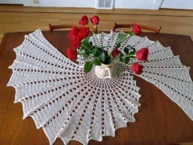 toalha de mesa de croche bico 1