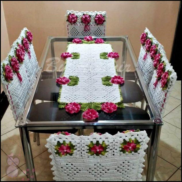 toalha de mesa de croche flores 1