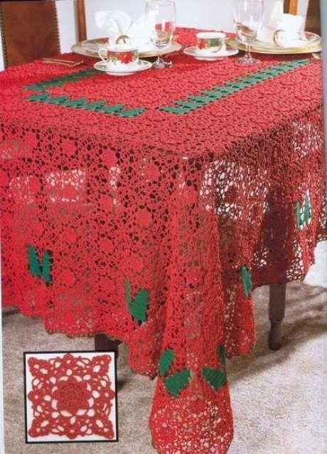 toalha de mesa de croche quadrada 1