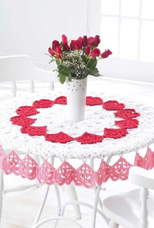 toalha de mesa de croche redonda 1