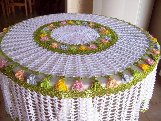 toalha de mesa de croche redonda 3