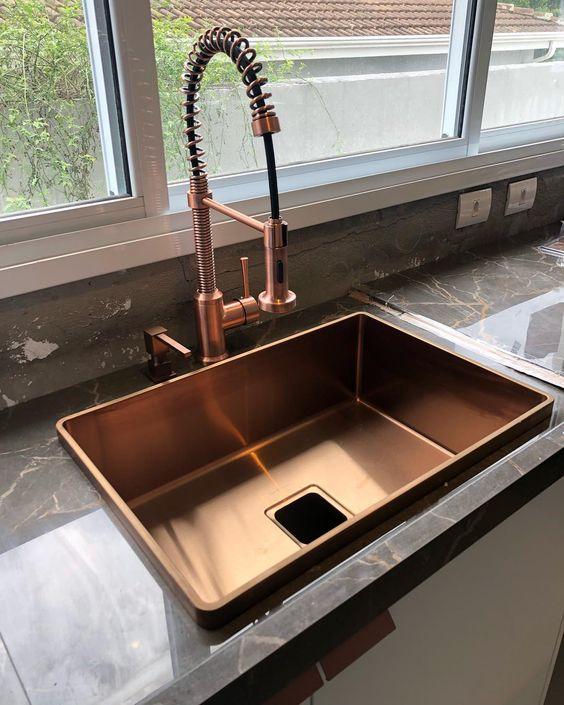 torneira cozinha flexivel cobre