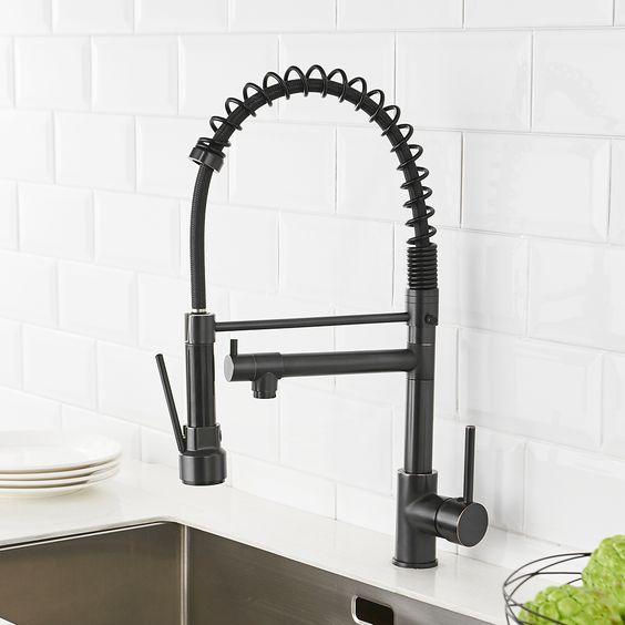 torneira cozinha flexivel preta