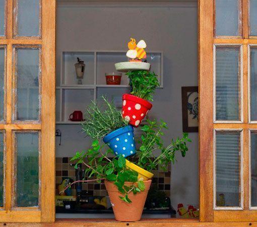 torres de vasos com flores 3