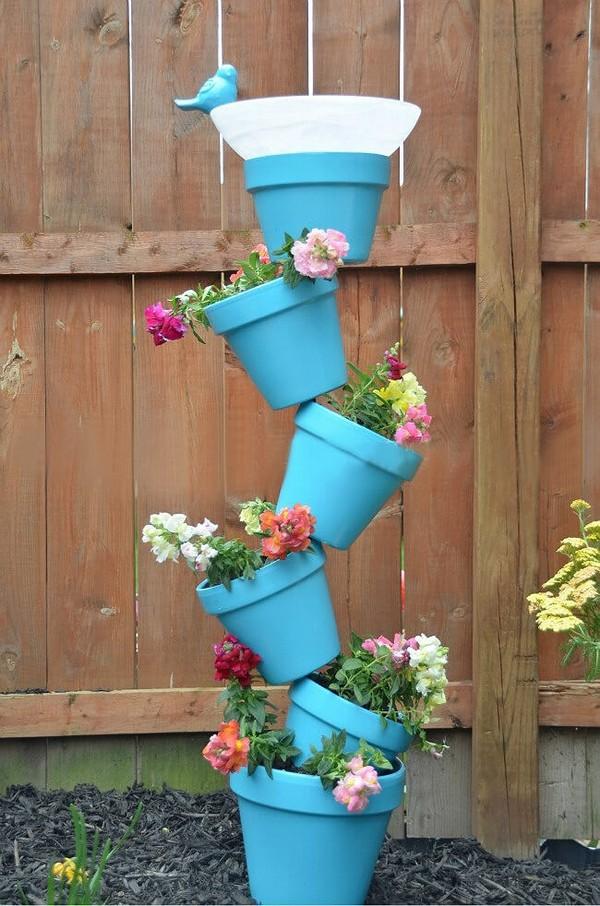 torres de vasos com flores 5