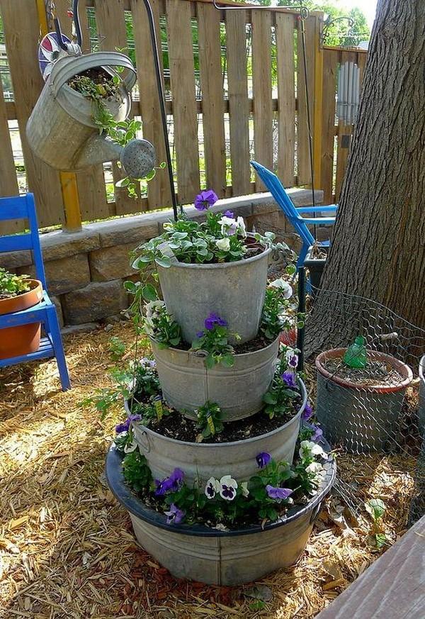 torres de vasos com flores 6