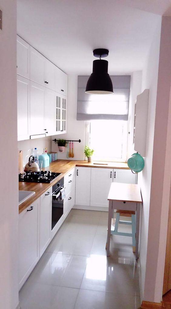truques cozinhas pequenas piso