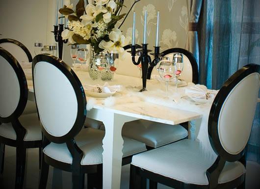 vaso decorativo para mesa de jantar