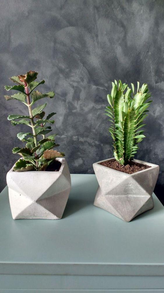 vasos de cimento criativos 3