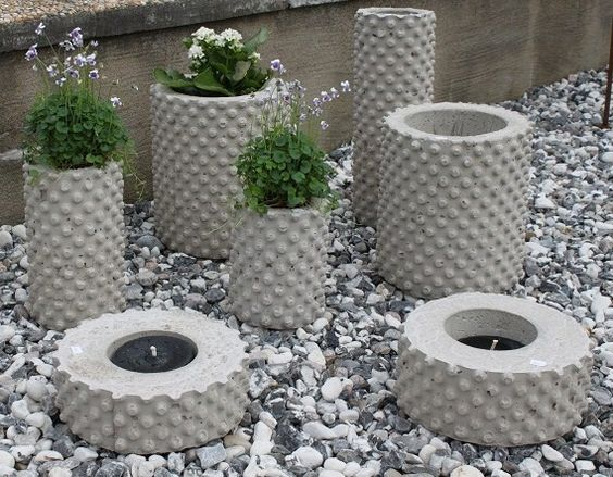 vasos de cimento criativos 5