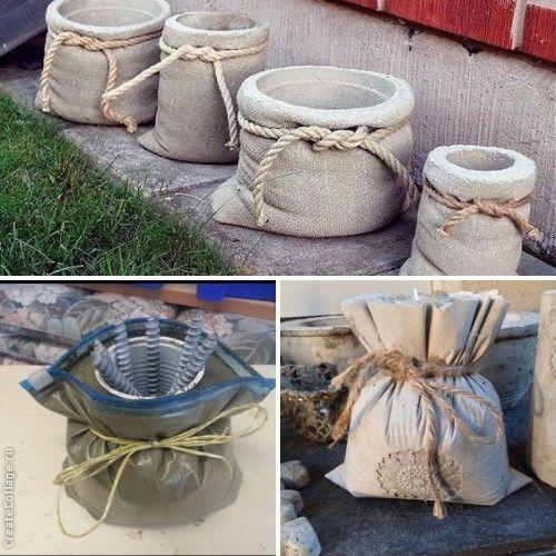 vasos de cimento criativos 9