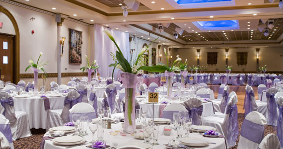 wedding decoration purple